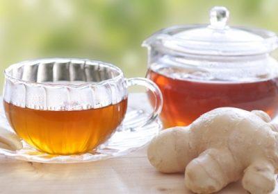 風のひきはじめに生姜紅茶